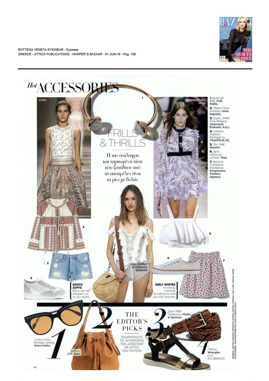 Delux Hellas - Bottega Veneta, Harpers Bazaar, June 2016