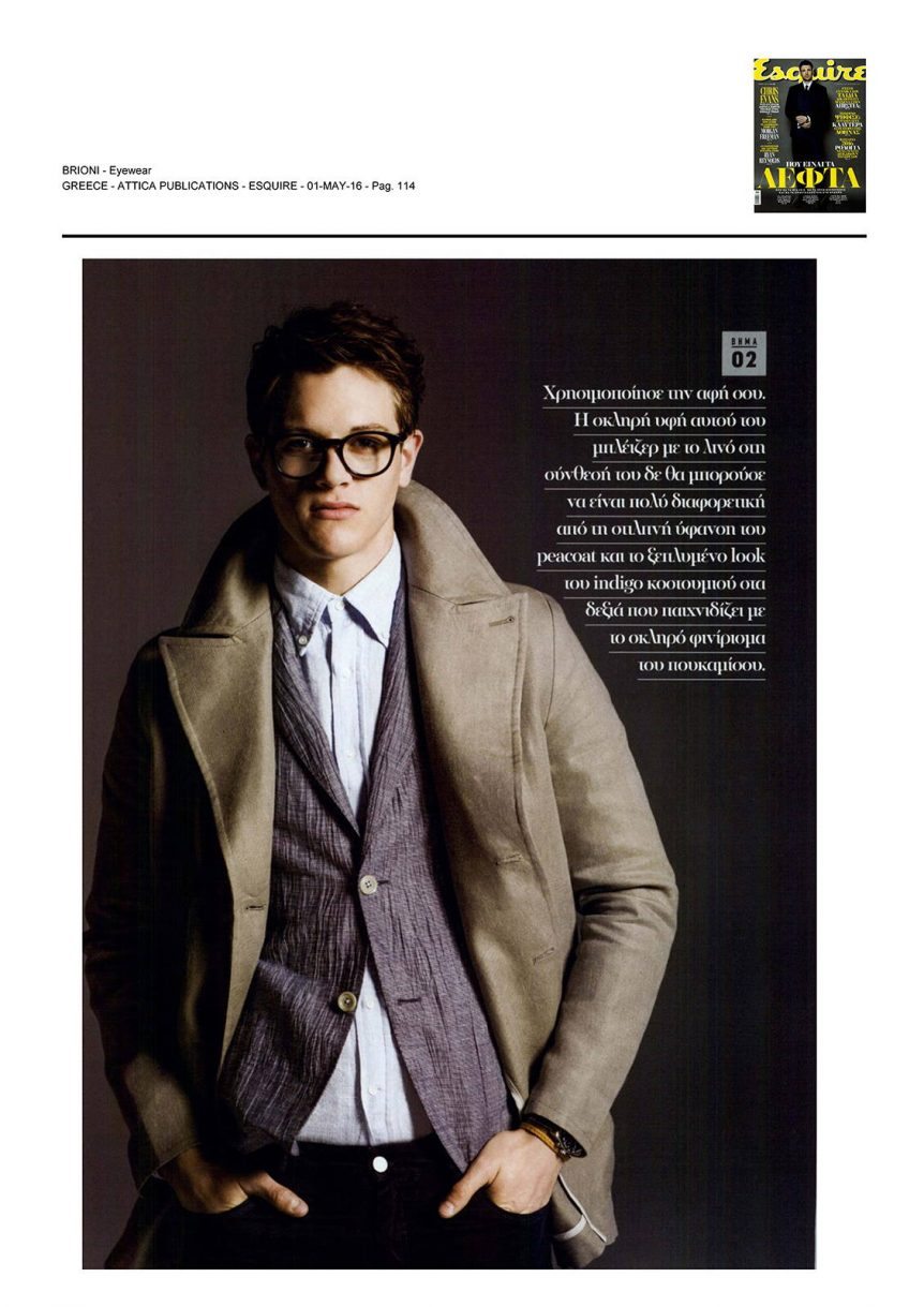 Delux Hellas - Brioni, Esquire, May 2016
